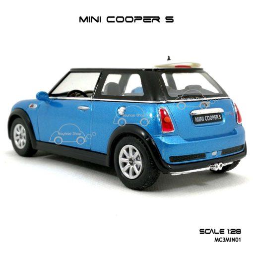 โมเดลรถ MINI COOPER S สีฟ้า (1:28) โมเดลรถ ราคาถูก