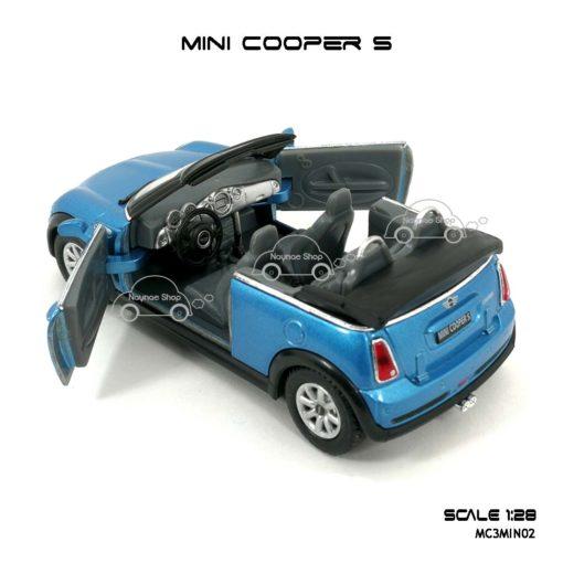 โมเดลรถ MINI COOPER S เปิดปะทุน สีฟ้า (1:28) รุ่นสวยๆ