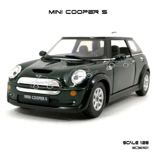 โมเดลรถ MINI COOPER S สีเขียว (1:28) รถเหล็ก ราคาถูก