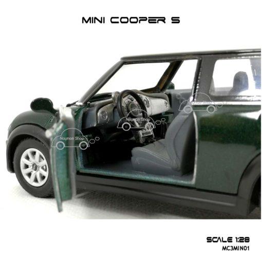 โมเดลรถ MINI COOPER S สีเขียว (1:28) สวยเหมือนจริง