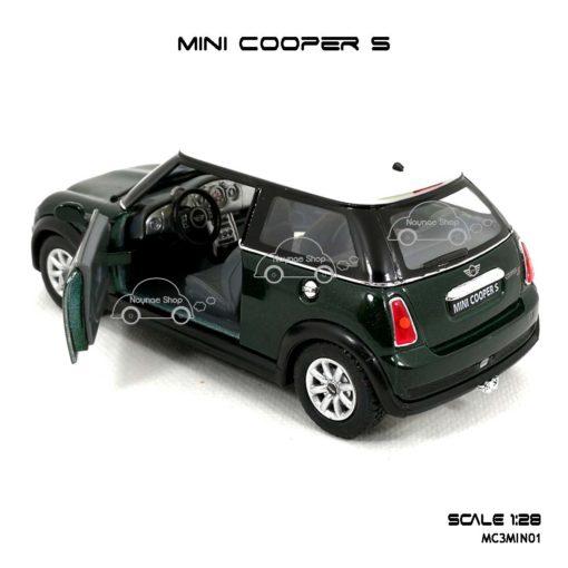 โมเดลรถ MINI COOPER S สีเขียว (1:28) มีลานดึงปล่อยรถวิ่งได้