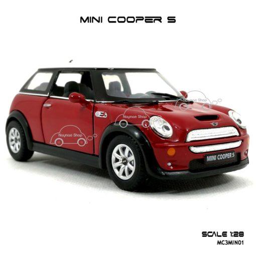 โมเดลรถ MINI COOPER S สีแดง (1:28) โมเดลประกอบสำเร็จ
