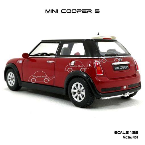 โมเดลรถ MINI COOPER S สีแดง (1:28) ท้ายรถสวยๆ