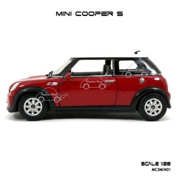 โมเดลรถ MINI COOPER S สีแดง (1:28) ราคาไม่แพง