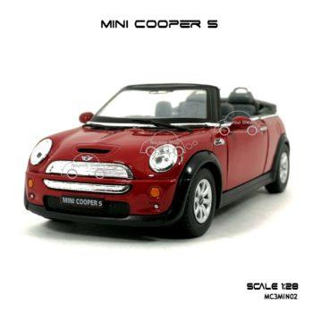 โมเดลรถ MINI COOPER S เปิดปะทุน สีแดง (1:28) น่าสะสม
