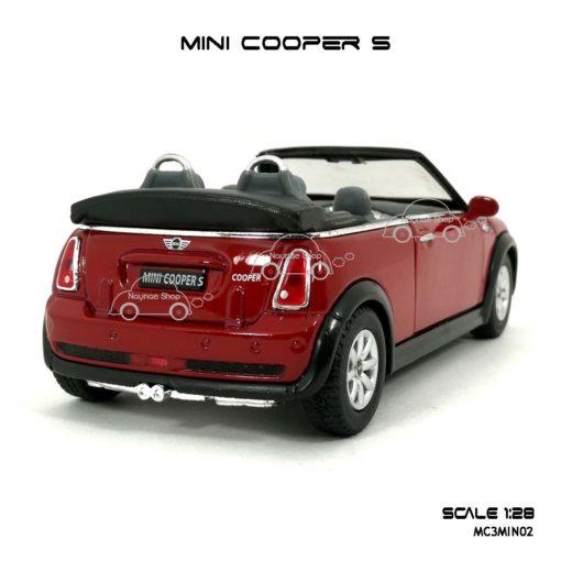 โมเดลรถ MINI COOPER S เปิดปะทุน สีแดง (1:28) โมเดลสำเร็จ