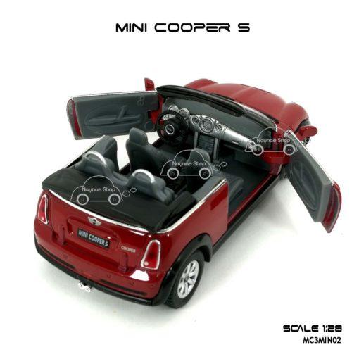 โมเดลรถ MINI COOPER S เปิดปะทุน สีแดง (1:28) เปิดประตูซ้ายขวาได้