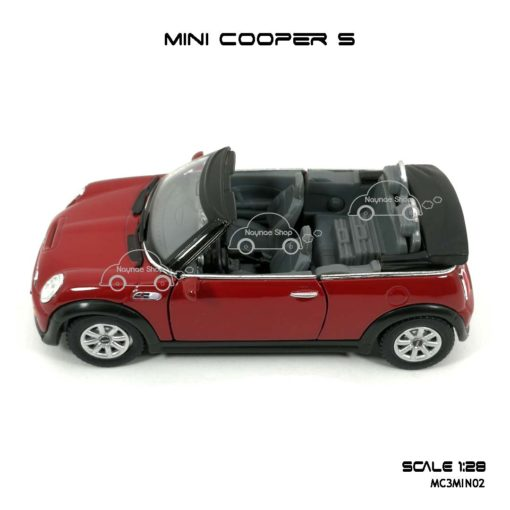 โมเดลรถ MINI COOPER S เปิดปะทุน สีแดง (1:28) มีลานดึงปล่อยรถวิ่งได้