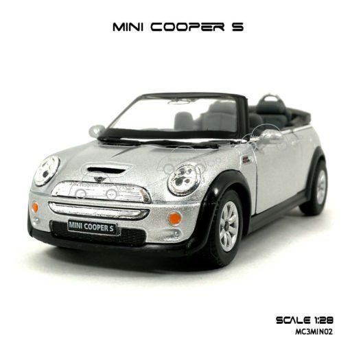 โมเดลรถ MINI COOPER S เปิดปะทุน สีบรอนด์ (1:28) เปิดประตูได้ ราคาถูก