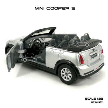 โมเดลรถ MINI COOPER S เปิดปะทุน สีบรอนด์ (1:28) เปิดประตูได้