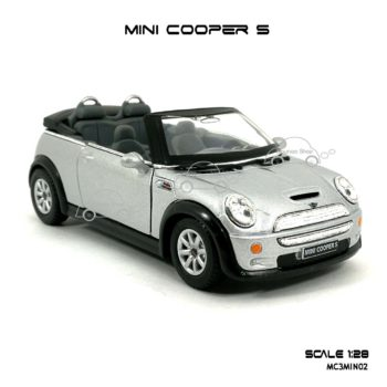 โมเดลรถ MINI COOPER S เปิดปะทุน สีบรอนด์ (1:28) โมเดลสำเร็จ