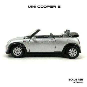 โมเดลรถ MINI COOPER S เปิดปะทุน สีบรอนด์ (1:28) มีลานดึงปล่อยรถวิ่งได้