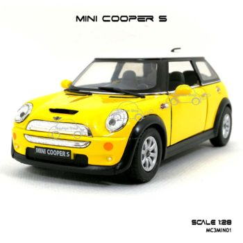 โมเดลรถ MINI COOPER S สีเหลือง (1:28) ราคาไม่แพง