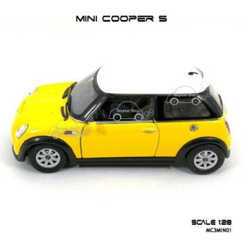 โมเดลรถ MINI COOPER S สีเหลือง (1:28) โมเดลสำเร็จ