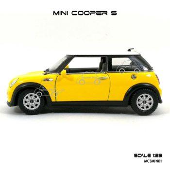 โมเดลรถ MINI COOPER S สีเหลือง (1:28) โมเดลรถราคาถูก
