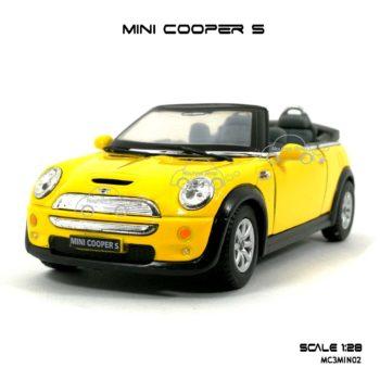 โมเดลรถ MINI COOPER S เปิดปะทุน สีเหลือง (1:28) โมเดลรถ ราคาถูก