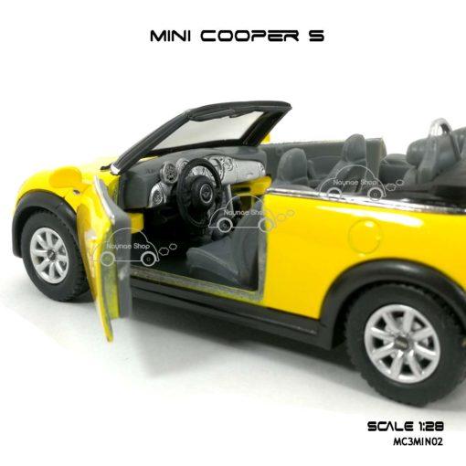 โมเดลรถ MINI COOPER S เปิดปะทุน สีเหลือง (1:28) โมเดลรถ สวยๆ