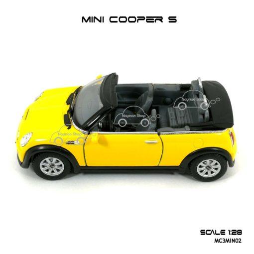 โมเดลรถ MINI COOPER S เปิดปะทุน สีเหลือง (1:28) มีหลายสี