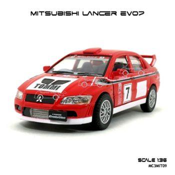 โมเดลรถเหล็ก Evo7 Rally (1:36)
