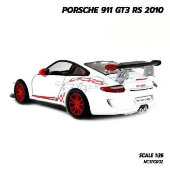 โมเดลรถ PORSCHE 911 GT3 RS 2010 สีขาว (Scale 1:36) โมเดลรถเหล็ก รุ่นขายดี