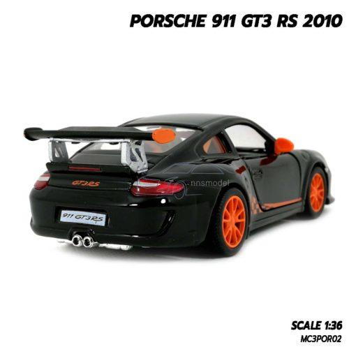 โมเดลรถ PORSCHE 911 GT3 RS 2010 สีดำ (Scale 1:36) โมเดลรถยนต์ มีลานวิ่งได้