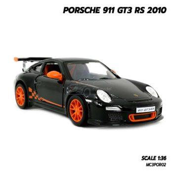 โมเดลรถ PORSCHE 911 GT3 RS 2010 สีดำ (Scale 1:36) โมเดลรถยนต์ ประกอบสำเร็จ