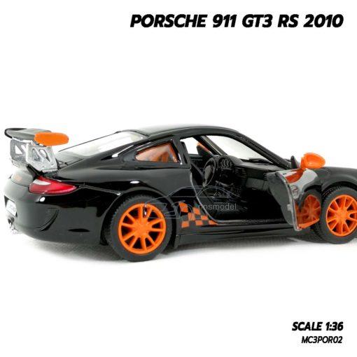 โมเดลรถ PORSCHE 911 GT3 RS 2010 สีดำ (Scale 1:36) โมเดลรถยนต์ ประกอบสำเร็จ พร้อมตั้งโชว์