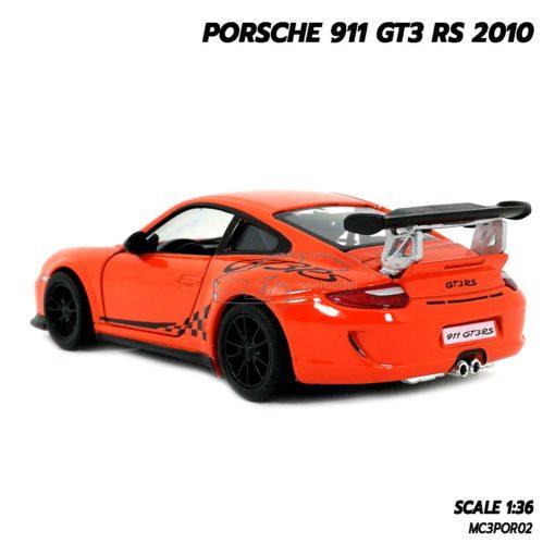 โมเดลรถ PORSCHE 911 GT3 RS 2010 สีส้ม (Scale 1:36) โมเดลรถของเล่น ของขวัญ ของสะสม
