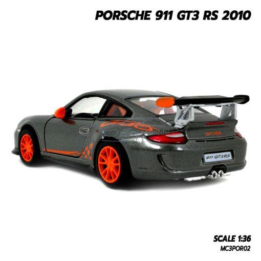 โมเดลรถ PORSCHE 911 GT3 RS 2010 สีเทา (Scale 1:36) โมเดลรถยนต์ พร้อมตั้งโชว์