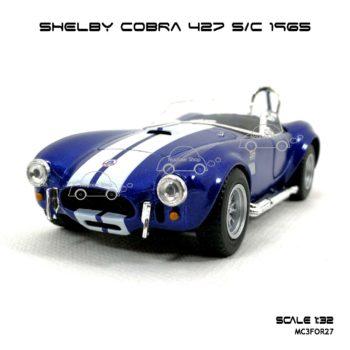โมเดลรถ SHELBY COBRA 427 SC 1965 สีน้ำเงิน (1:32)