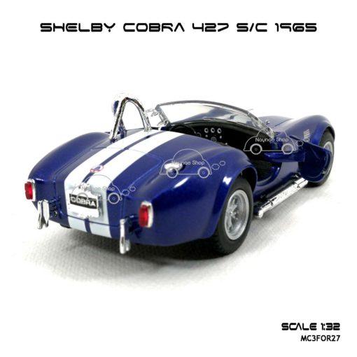 โมเดลรถ SHELBY COBRA 427 SC 1965 สีน้ำเงิน (1:32) โมเดล รถ โบราณ