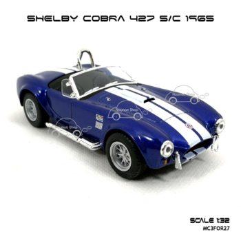 โมเดลรถ SHELBY COBRA 427 SC 1965 สีน้ำเงิน (1:32) เปิดประตูได้