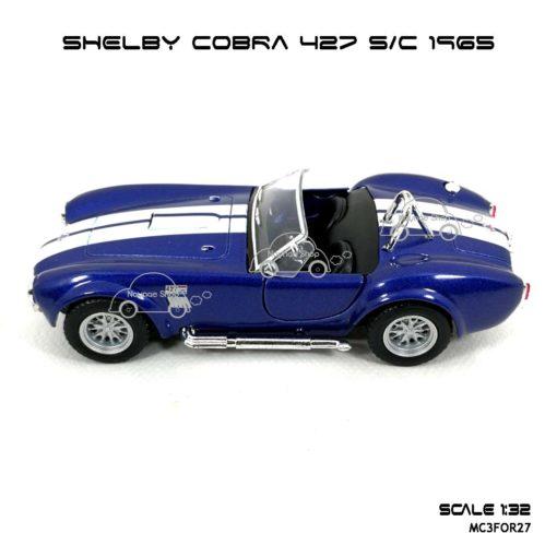 โมเดลรถ SHELBY COBRA 427 SC 1965 สีน้ำเงิน (1:32) มีลาน รถวิ่งได้