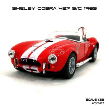 โมเดลรถ SHELBY COBRA 427 SC 1965 สีแดง (1:32) โมเดล ประกอบ สำเร็จ