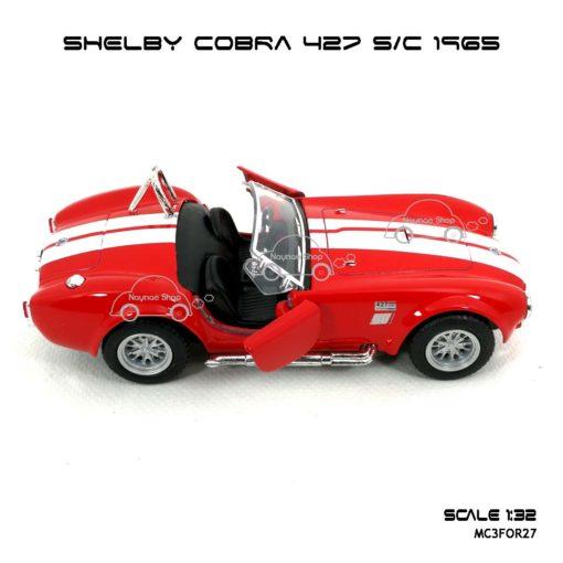โมเดลรถ SHELBY COBRA 427 SC 1965 สีแดง (1:32) เปิดประตูได้