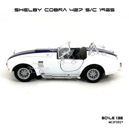 โมเดลรถ SHELBY COBRA 427 SC 1965 สีขาว (1:32) โมเดลของแท้