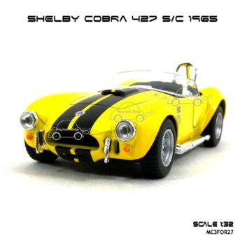 โมเดลรถ SHELBY COBRA 427 SC 1965 สีเหลือง (1:32) โมเดลของแท้