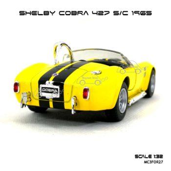 โมเดลรถ SHELBY COBRA 427 SC 1965 สีเหลือง (1:32) รถจำลอง สมจริง