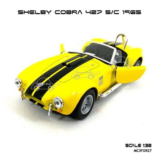 โมเดลรถ SHELBY COBRA 427 SC 1965 สีเหลือง (1:32) model รถ