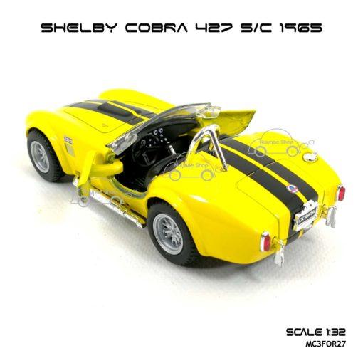 โมเดลรถ SHELBY COBRA 427 SC 1965 สีเหลือง (1:32) รถเหล็ก