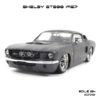 โมเดลรถ SHELBY GT500 1967 สีเทาคาดดำ (1:24)