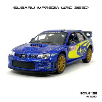 โมเดลรถ SUBARU IMPREZA WRC 2007 (1:36) รถแข่งลายสวยเหมือนจริง