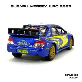 โมเดลรถ SUBARU IMPREZA WRC 2007 (1:36) โมเดลรถแข่ง ประกอบสำเร็จ