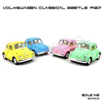โมเดลรถ VOLKSWAGEN CLASSICAL BEETLE 1967 สีหวาน (1:40)