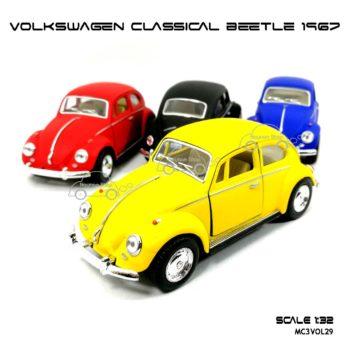 โมเดลรถ VOLKSWAGEN CLASSICAL BEETLE 1967 สีด้าน (1:32)
