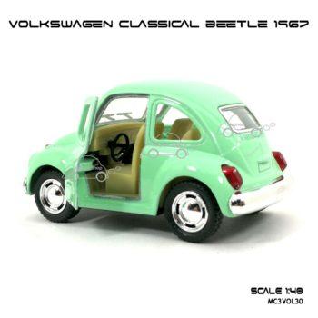 โมเดลรถ VOLKSWAGEN CLASSICAL BEETLE 1967 สีหวาน เขียว (1:40) ภายในรถ จำลองเหมือนจริง