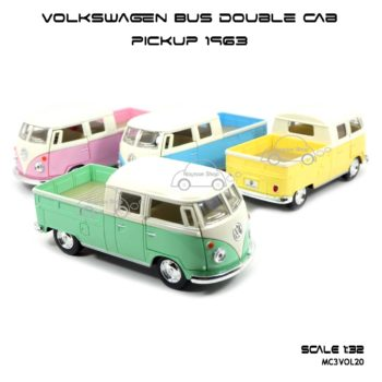โมเดลรถ Volkswagen Bus Double Cab Pickup 1963 (1:34)