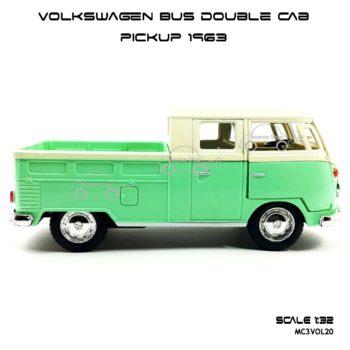 โมเดลรถ Volkswagen Bus Double Cab Pickup 1963 สีเขียว (1:34) โมเดลประกอบสำเร็จ