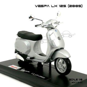 โมเดลเวสป้า VESPA LX 125 2005 สีบรอนด์ (1:18)