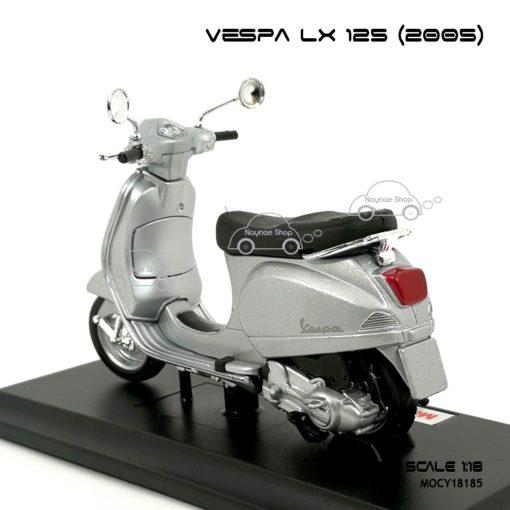 โมเดลเวสป้า VESPA LX 125 2005 สีบรอนด์ (1:18) เหมือนรถจริง